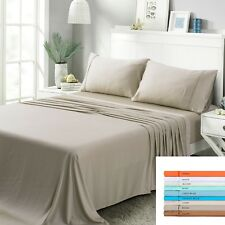 Angel 100% MOSO Bamboo 4 Pieces SET Bedding sheet 1600 count threads KING SIZE