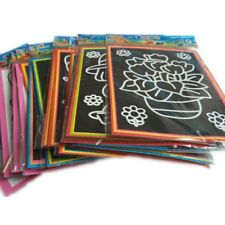 20Pcs Magic Color Scratch Art Paper Coloring Cards Scraping Kids Drawing Toys