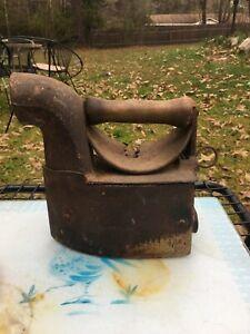 Antique Cast Iron Coal Iron