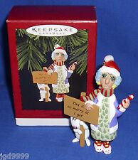 Hallmark Ornament Shoebox Character Maxine 1996 Dog Floyd Bunny Slippers Used