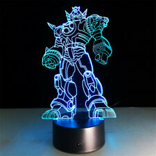 Transformers 3D illusion LED Lamp Touch Switch Table Desk Night Light Kids Gift