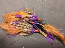 Bass Craw Crawlers, Brown-Rust Craw/PB&J,  Sold per 3/ Size 1/0,  **** NEW****