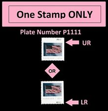 US 5344 Flag forever plate single P1111 (from APU booklet of 20) MNH 2019
