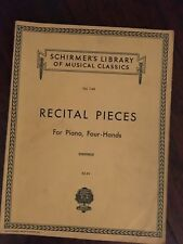 Recital Pieces for Piano, Four-Hands (Numerous Classical Works)