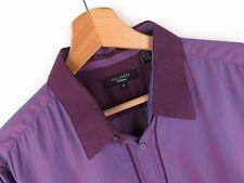 jy3648 Ted Baker Camisa Top Original PREMIUM LILA PORTUGAL size 16