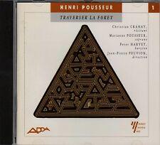 Henri POUSSEUR Traverser la foret CD Cantata ADDA Ens Musique Nouvelle de Liege