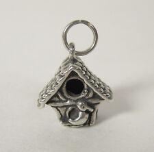 Bird House Charm Pen 00004000 dant .925 Sterling Silver Usa Made Tree Travel Souvenir
