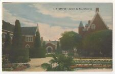 Jardin du Musee Dobree, NANTES France Vintage French Postcard