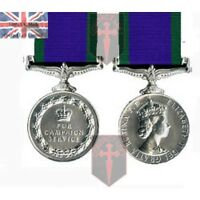 Official General Service Medal (1962) GSM CSM Miniature Medal + Ribbon