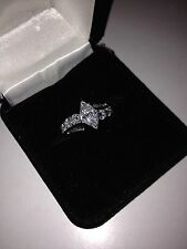 1.6 Total Carat VS1 Clarity, F Marquise Diamond Ladies Engagement Ring