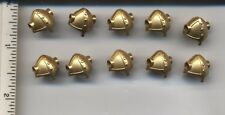LEGO x 10 Metallic Gold Minifig, Headgear Helmet Viking with Side Holes treasure