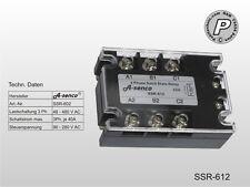 SSR-612 Solid State Relais 400V 3x 40A AC, Steuerstrom 90-280 V AC