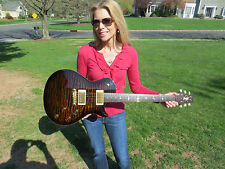 Prs Private Stock Singlecut SC 245 One Piece Quilt Top Rosewood Neck Tiger Eye