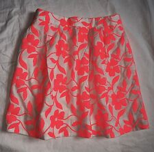 JCrew COLLECTION Embroidered Neon Floral Skirt - Size 2 24099 $298