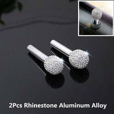 2Pcs Rhinestone Bling Car Door Interior Lock Knob Handle Peg Pin Accessories