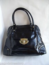 New Faux Leather Handbag with Grab Handles in Black or Brown or Grey or Mink