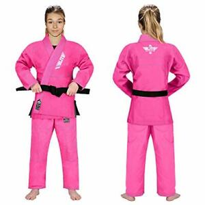 NWT -  ELITE SPORTS Girl's 'GI' MARTIAL ARTS UNIFORM Pink - WC000