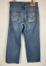 Levi's 569 Mens Jeans Sz 33x30 (meas 34x29) Loose Straight Distressed Work Pants