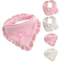 1PC Newborn Baby Kids Cotton Bibs Boy Girl Saliva Towel Bib Feeding Pink White