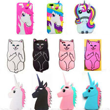 3D Cartoon Unicorn Soft Silicone Phone Case For iPhone 5 6 7 Samsung S8 Huawei