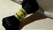 Lot de 20m cordon polyester, fil pour bracelet , 2mm  noir