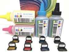 Dell 3110CN, 3115CN, 3110, 3115 Printer  Refill Kit CYMK | 400g + 8-Reset Chips