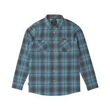 HIPPYTREE Men's FAIRING L/S Flannel Shirt - Blue - Large - NWT