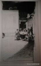 CHINESE CARD PLAYERS PLATE B ETCHING JOHN W. WINKLER, MASTER ETCHER