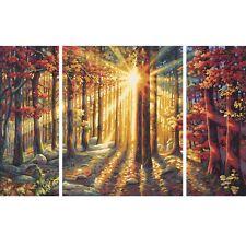 Herbstwald Malen nach Zahlen Schipper Meisterklasse Triptychon Wald 50 x 80 cm