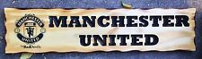 Manchester United Rustic Pine Timber Sign 600mm x 140mm