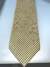 R. Böll Rottach Eggern  Krawatte, Slips, Binder gelb schwarz 100% Seide