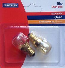 2 X 15w STATUS 300c OVEN COOKER APPLIANCE Bulb Lamp SES E14 Light Bulbs 240v