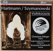 Hartmann / Szymanowski - Violinkonzerte - Christiane Edinger - CD neu