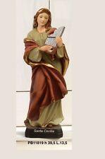 Statua Santa Cecilia 39,5 cm in resina by Paben