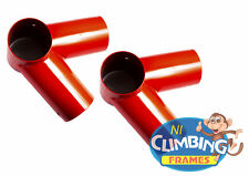Pair Swing Corner Round Bracket Red 100mm Wooden Climbing Frame 100 Angle