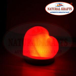 Himalayan Salt USB Heart Shape Light with LED Bulb Multi color Nice Gift Light