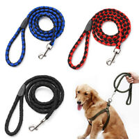 Long Weave Nylon Leads Cotton Core Dog Pet Leash Traction Rope Outdoor Collars