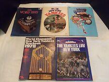 "Vintage NY Yankees Yearbooks 78 '' 79 '' & 76 "" Scorebooks & 78 ""  81 "" WS Book"