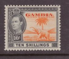 Gambia 1938 10 shillings Elephant SG 161 Mint Hinged