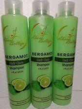 3 PACK BERGAMOT HAIR CARE SHAMPOO + KERATIN  16.23 FL OZ EACH  PLANTIMEX