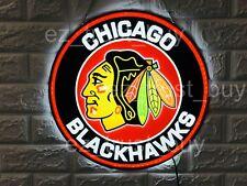 "New Chicago Blackhawks Bar Lamp Decor Led 3D Neon Sign 16"" Light Windows Display"