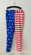4th Of July Pants Mens Size Large Stars and Stripes Red White Blue Suitmeister