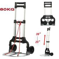 80KG Heavy Duty Lightweight Folding Hand Sack Trolley Truck Barrow Cart Wheel