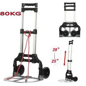 80KG Heavy Duty Lightweight Folding Hand Sack Trolley Truck Barrow Cart Wheel