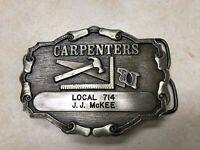 Vintage Carpenters Local 714 Belt Buckle