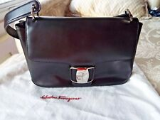 Authentic  Salvatore Ferragamo Black Calfskin handbag