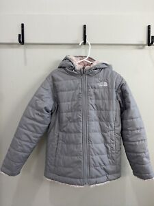 New! The North Face Mossbud Swirl Winter Jacket Gray Pink Toddler Size 6