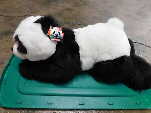 "New Aurora Xie-Xie Plush Panda Bear JUMBO 26"" Lying Down Black White Soft Toy"
