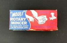 """Vintage """"Mouli"""" Rotary Mincer 1950 Mincing Safely Quick Preserves Flavor Steel"""
