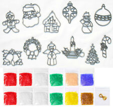 Makit & And Bakit Stained Glass 12 Piece Christmas Ornament Kit 1 – Mini Frames